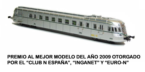DIESEL RAILCAR ABJ 7 OF RENFE (FIRST VERSION)