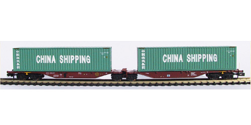 VAGON PORTACONTENEDORES SNCB. CHINA SHIPPING