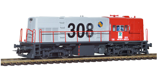 Locomotora diesel 308-027 color rojo/gris