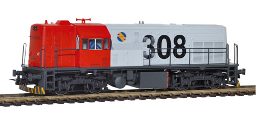 LOCOMOTORA DIESEL 308-019. COLOR ROJO Y GRIS