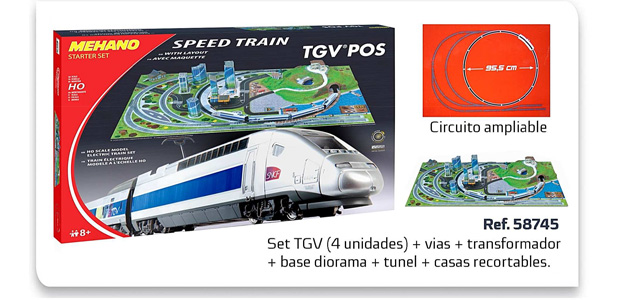 CAJA INICIACION SPEED TRAIN TGV H0