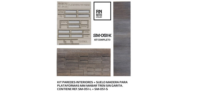 KIT SUELO + PAREDES INTERIOR VAGON serie MM H0