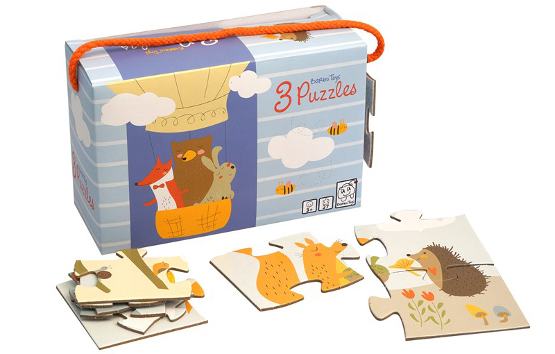 Little Woodies - 3 Puzzles