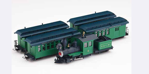 SET LOCOMOTORA + 4 COCHES VERDE